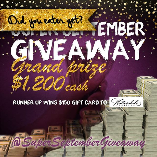 YOU GOTTA BE IN IT TO WIN IT!! Head on over to @SuperSeptemberGiveaway to enter NOW!! #WinGelt