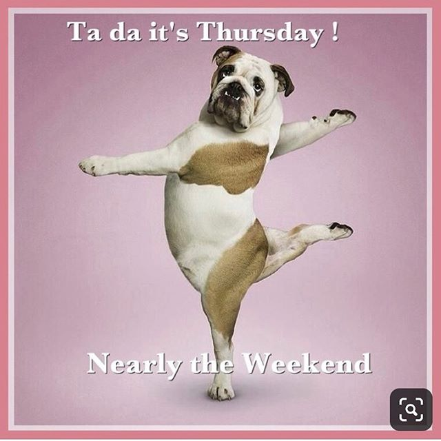 Happy Thursday!, it's almost the weekend 🎉😄