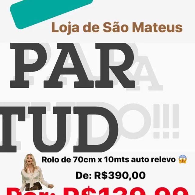 Papel de parede 🔝🔝🔝 . ✅ De: R$320,00 . ✅ 🚨Por: R$139,99 😱 . ✅ Auto relevo aveludado #luxuoso . ✅ Vinílico (lavável) . ✅ 70cm x 10mts (vem 7mts2) . 🚨 Exclusivo na nossa loja de São Mateus  Rua: Tita Ruffo 1046 (próximo a loja Besni e Lojas Marisa da Av Mateus Bei) . Tudo a pronta entrega!!! . Mais corre se não acaba 🤷🏼♀️ . Loucura assim ☝🏼☝🏼é só aqui 👇🏼👇🏼 . . 🏃🏼♀️🏃🏼♀️🏃🏼♀️🏃🏼♀️para a @estrelapapeisde. . Variedades, qualidade e preço lá em baixo é aqui!!! . . #vemquetem #promoção #outlet #modernismo #moderninha #desconto #parcela . . 4 lojas esperando por você👇🏻👇🏻👇🏻👇🏻 . • Loja 1: R. Serra de Botucatu, 1341 - Tatuapé - São Paulo - SP, 03317-001 Tel: (11)3257-8605 ou (11)95340-2862 . • Loja 2: Av. Professor Luiz Ignácio Anhaia Mello, 1859 - Vila Prudente, São Paulo - SP, 03155-000 Tel: (11)3159-4470 ou (11)94736-7623 . • Loja 3: R. Santo André, 418 - Centro, Santo André - SP, 09020-230 Tel: (11)4852-0459 ou (11)94089-1038 . • Loja 4: R. Tita Ruffo, 1046 - Cidade São Mateus, São Paulo - SP, 03965-000 Tel: (11)2962-6999 ou (11)94011-9483 . . #papeldeparede #decor #papeldeparedeimportado #lojadepapeldeparede #papeldeparedetexturizado #papeldeparedeinfantil #designdeinteriores #instagram #instahome #3d #interiores #decor #dicasdedecoracao #saomateus #sapopemba #uninovevilaprudente #maua #moocaémooca #tatuape #tatuape_tem #santoandre #itaquera #saomiguel