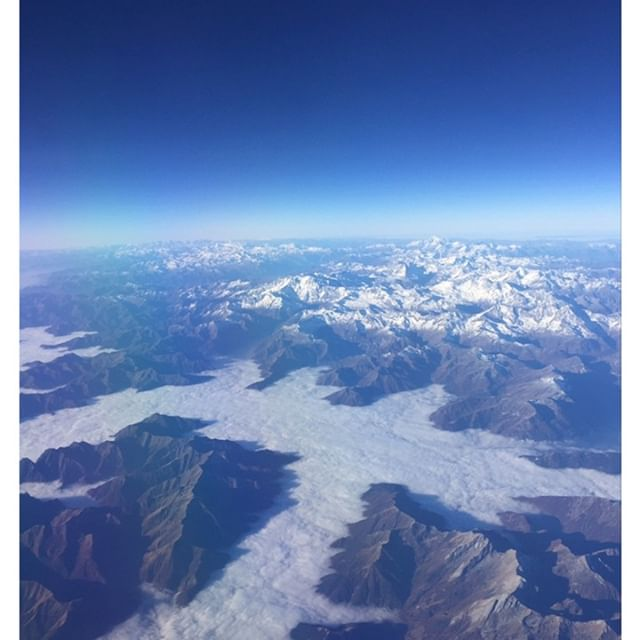 Flying home again! over the Alps! #flighinghome #gorgeousview