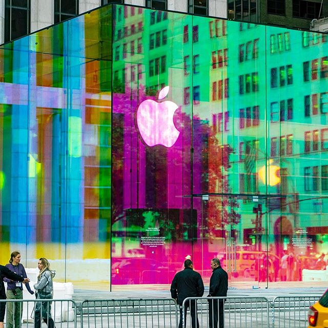 SPOTTED: @apple's Fifth Avenue reimagined #rainbow glass cube will open soon in #NYC 🌈 #applestore #apple #fifthavenue