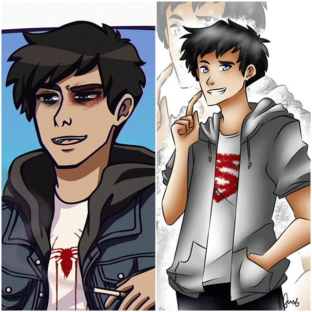 2019 sarcastic sad boi vs 2015 carefree lonely boi🔥 I got no new art to share but at least i can compare my shit and how much it changed lmao #TaintedNovelGryffindorkx . #art #artwork #artist #draw #drawing #doodling #doodle #doodles #digitalart #digital #digitalillustration #illustration #webtoon #webcomic #comic #comics #myoc #mycharacter #oc #originalcharacter #character #characterdesign #sketch #sketches #sketching #artistoninstagram #artistsoninstagram #characterart