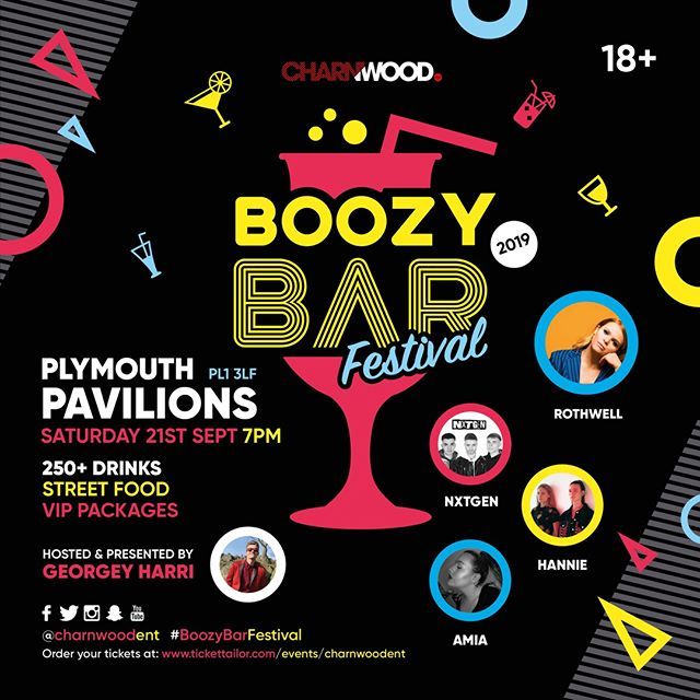 We're really excited to be performing at Boozy Bar Festival in Plymouth on Saturday 21st September! Who's coming? Get your tickets here: http://bit.ly/2lQpPqK #BoozyBarFestival