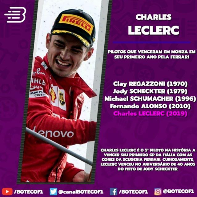 @charles_leclerc já escreveu o seu nome na história da @scuderiaferrari.  Inscreva-se 🏎️🏁📚 youtube.com/BOTECOF1 (Link na BIO e no destaque dos Stories)  #CharlesLeclerc #ScuderiaFerrari #Ferrari | #Monza #ItalianGP | #FormulaOne #Fórmula1 #F1