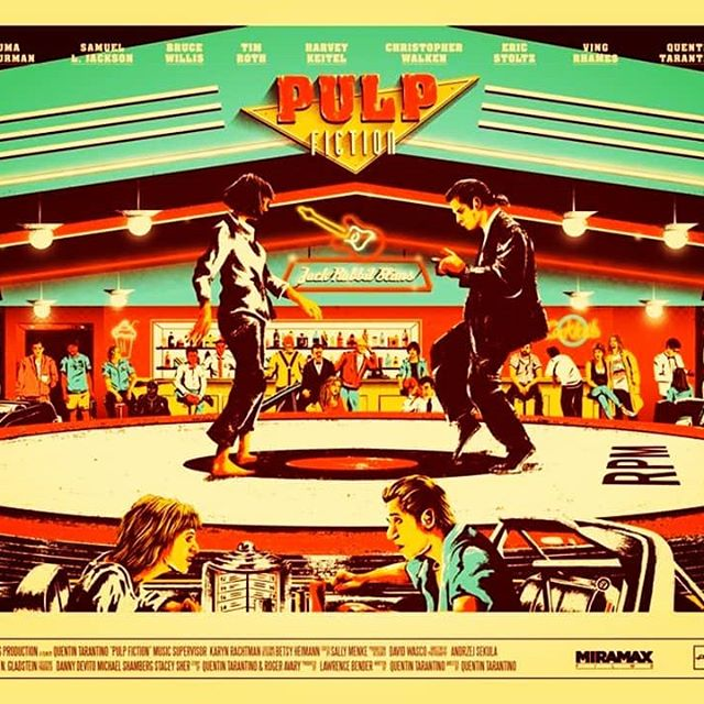 Just saw #pulpfiction