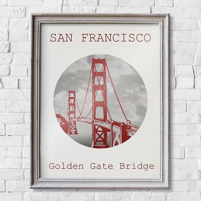 The Golden Gate Bridge 🌉 🥰 . . . . . #etsy #dametraveler #createexplore #etsyfinds #etsyshop #handmade #artshop #artprints #shopsmall #shoplocal #goldengatebridge #goldengate #sanfrancisco #exploresanfrancisco #explorecalifornia #california #californiaart #sanfranciscoart #wallart #walldecor #homedeco #homedecor #homeideas #travelinspo #artdaily #travelart #printables #shophandmade #artforthehome #printshop