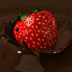 strawberry coklat