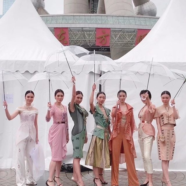 preparation for Indonesia week Under the pearl Tower  in Shanghai - China
