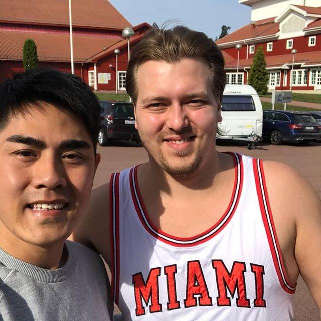 Visiting Godby Idrottscenter with my friend from Singapore! #gym #styrke #godby #skärgård #åland
