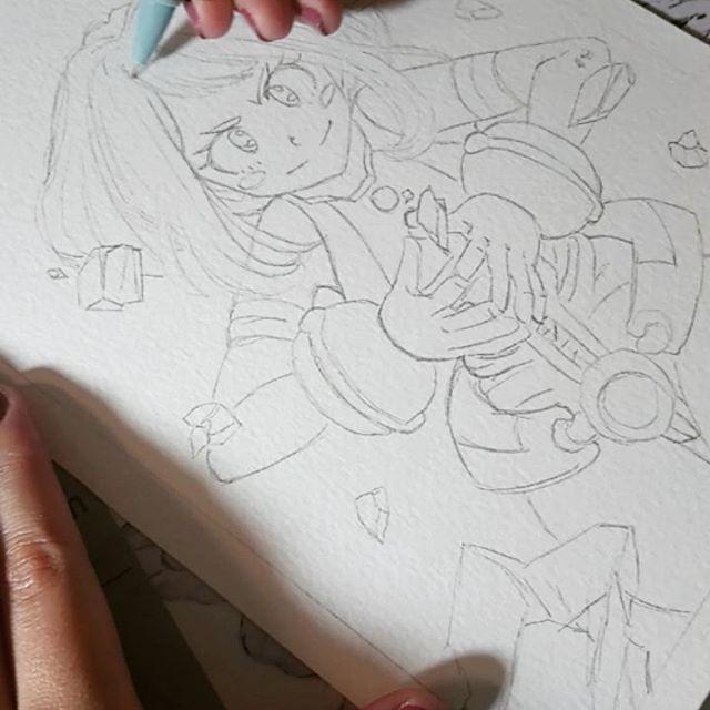 Detallando el boceto a lápiz ✍️ . . . #wip #bokunohero #uraraka #fanart #sketch #traditionalart #art #uravity #MyHeroAcademia #drawingvideo #manga #anime #shonen #animearttr #featuring_art #featuring_artwork #animeartassistant #artshelp911 #animeartshelp #anime_arts_help #animeart_feature #animearttr #mangaka_support #AnimeBreath