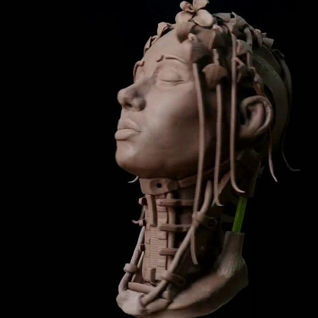 #clayart  #clay #cyberpunk #monsterclay #sculpture #пластилин