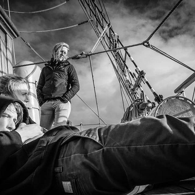 Crew time continues.  #barkeuropa #tallship #dutchtallships #fujifilmphotography #fujifilm #fujifilmx_au #fujifilmslovakia #acros #bwphotography #bw #documentaryphotography #crewlife #crew #blackandwhite #deckhand #deckhandlife #coffeetime☕ #captain