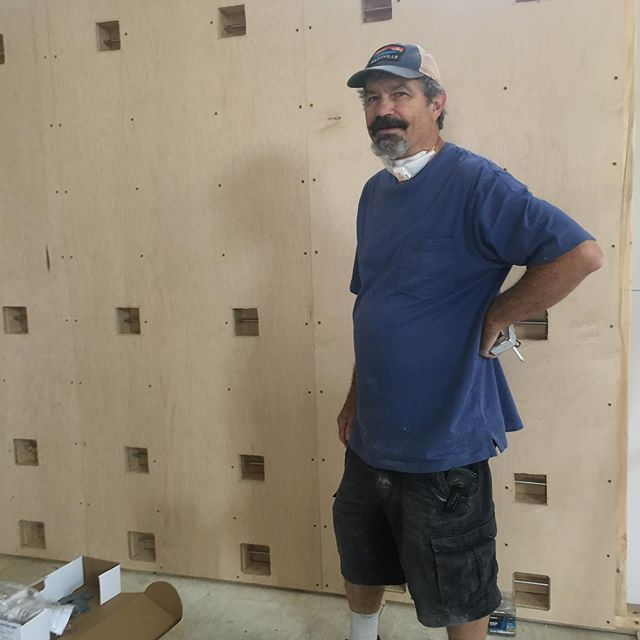 Dan has spent hours crafting our rope walls for the new studio and also building me kitchen and bathroom cabinets. He is a gifted carpenter and I could not recommend him highly enough! Looking forward to opening our doors soon!  If you ever find yourself in need of a good carpenter, Dan is your man! Friend, yogi, Farmie, carpenter and truly a gem among a shrinking crew of talented craftsmen! #danmcintyre #wildwood #cabinets #ropewall #mastercarpenter