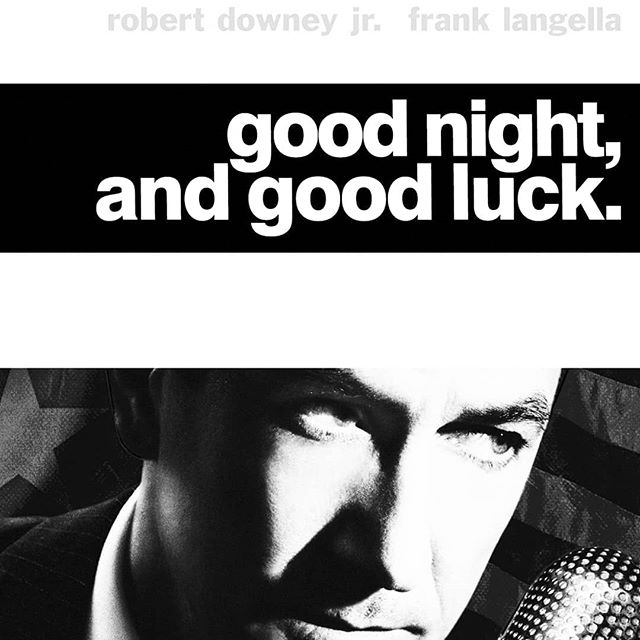 Just saw #goodnightandgoodluck the fact that an incident like the McCarthy hearings from 50+ years ago resonates so much with today is just awe-inspiring