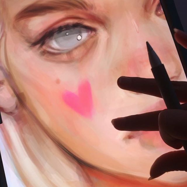 a messy video of my work in progress, just like always, to show u guys how i'm painting lately!! i'm really enjoying painting it all one color first (i think it is easier to work with values this way) and then I change the color and paint a little more 💖 . . . .  #drawingthesoul #digital_art #artistquirks #digitalpaint #digitalart #procreate #drawingstyle #artofdrawing  #artistatwork #drawingartist #drawingportrait #realisticdrawing #profreateapp #drawdrawdraw #drawing #artaccount #sketchdigital #semirealism #fanart  #art #illustration #portrait #paiting #digitalpainting