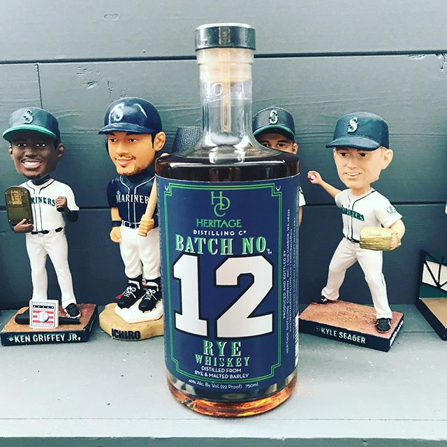 Have t posted in a bit but my pickup for today while I'm in Seattle. Taking this bad boy home with me when I go back to Arizona! #12thman #seattleseahawks #heritagedistillery #whiskey #mancave#seattlemariners #seattle