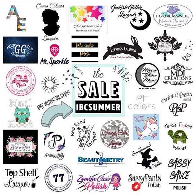 "Indie Brand Collective sale is going on now!  Shop 29 different shops using one sale code ""IBCSummer"". Our shop will save 15% off everything except Fall Fun Holos. Shop www.topshelflacquer.com @indiebrandcollective #topshelflacquer #nail #nails #mani #manicure #indie #indie411 #indiepolish #indiepolish411 #fortheloveofpolish #holographicnails #holographic #holonails #instanails #instagramnails #nailstagram"