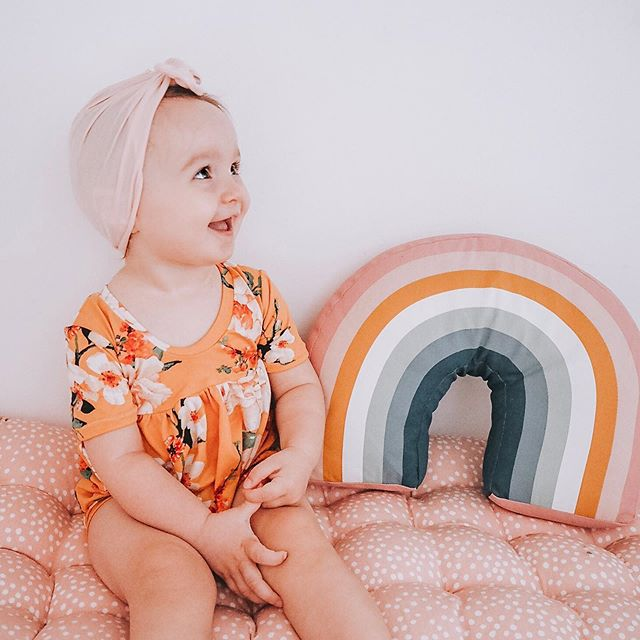 You're my rainbow when the skies are cloudy ⋒ ——————————————————————— Tagged 🖤  Romper & Turban @lilaandlilly  Rainbow Cushion @hmhome  Floor Cushion @laredoute_uk