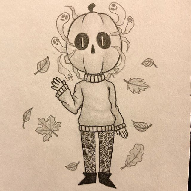 Here is my new Pumpkin Boy oc for a contest being run by @h.analea !! The aim is to create a Fall/Halloween themed character. Please check out her post for more info! #hanahollow19 Read below for more info on him... • • • • Name: Pumpkin Boy • Age: Appears 5, real age unknown • Gender: Male • Height: 90cm (2'11) • Place of residence: Graveyard • Theme: Halloween/Autumn/Fall • Features worth noting: The pumpkin boy is mute, and so lives his life hearing the whispers of the souls surrounding him without any way to contribute. To accomodate for this, he can speak in sign language, and can also write messages into the soil around him with sticks and twigs. • Abilities: He roams the Graveyard in search for lost souls. In order to cater to those that are unwilling/aren't yet prepared to pass on, he provides them with a residence in his pumpkin head. The ghosts circle within and around the pumpkin head, chatting to each other in order to prepare themselves for their final decision — to stay with the pumpkin boy or to move on to where they are destined to go. • • • Materials: HB & 2B led pencils, tortillion Duration: Approximately 1 hour • • • • • #art #artist #artsy #artwork #myart #instaart #instaartist #pencil #pencildrawing #darkfantasy #darkartistry #darkartist #darkart #darkillustration #darkartwork #halloweenoc #halloween #fall #autumn #myoriginalcharacter #characterdrawing #mycharacter #owncharacter #cartoon #chibi #lipcherrymagenta #donaru_ #artistry_featurette #featuretimee