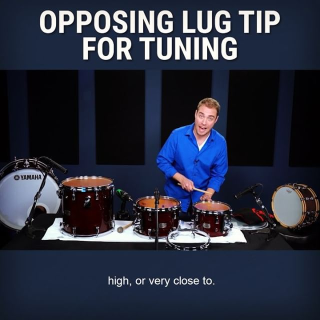 A drum tuning secret weapon! Tag someone who could use this and be sure to follow us on IG, Facebook, and YouTube for more fun recording tips! . . . #recording #recordingstudio #recordeo #studio #audioproduction #studiolife #audio #audioengineer #audioengineering #drums #recordingdrums #drumeo #homestudio #homerecording #homerecordingstudio #music #musicproduction #musicproducer #recordproducer #yamahadrums #evans #evansdrumheads