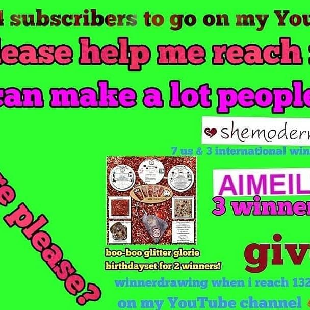 @sassyfamilie Amazing giveaway and talented Youtuber! Show some love if you're following or subscribed to her! ❤❤❤👍