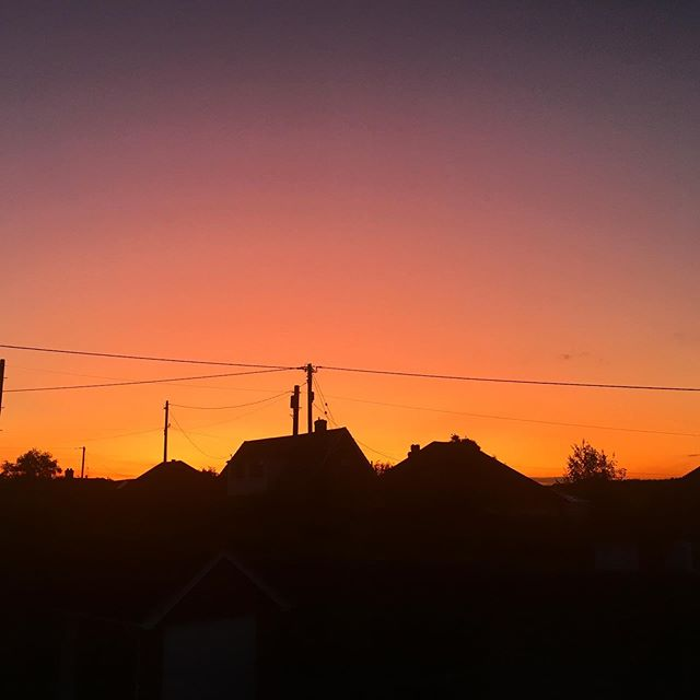 Sometimes the most beautiful things are right in front of you and you don't have to travel for hours to see them. This was the sunset from my bedroom window the other night - no editing. #sunset #sunsets #beautifulcolours #bedroomwindowview