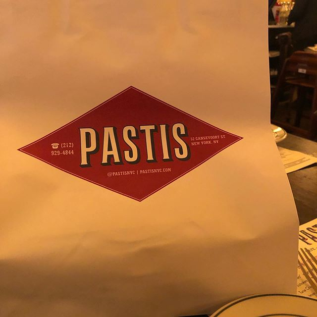 Late lunch with my friend Dan @ pastis it been so long since I have been to Pastis. #newyork