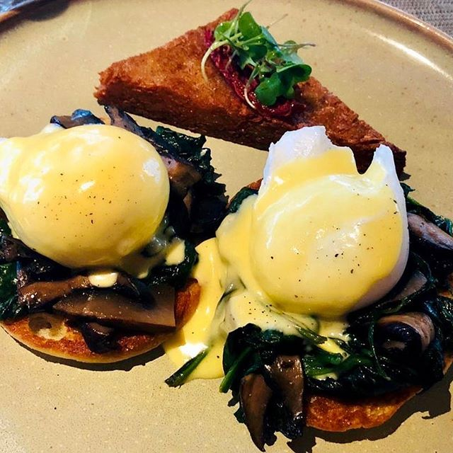 Sunday's breakfast choice 😋...poaching eggs has never been my strong point, but these worked a treat! 😊 . . .  #goodmorning #sunday #breakfast #homemade #poachedeggs #mushrooms #toast #spinach #eggsbenny #hollandaise #spinach #nutritious #delicious #foodpics #foodphotography #foodie #foodheaven #eattheworld #weekendvibes #getcooking 😉