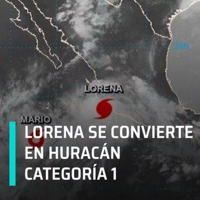 """Alerta máxima en varios estados. """"Lorena"""" se convirtió este miércoles por la noche en huracán categoría 1 en las costas de Manzanillo, Colima. #enpunto #lorena #huracán #lluvias #méxico #manzanillo #colima #guerrero"""
