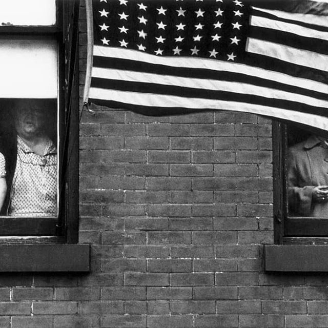 """""""The eye should learn to listen before it looks."""" – Robert Frank  With great sadness, we mourn the loss of an inspiration, Robert Frank, whose legacy will continue to transcend and influence photographers for generations on. Nov. 9, 1924 – Sept. 9, 2019  1. Parade - Hoboken, New Jersey, 1955 2. Trolley - New Orleans, 1955 3. Robert Frank by Dodo Jin Ming  Images 1 & 2: ©Robert Frank from The Americans, courtesy Pace/MacGill"""