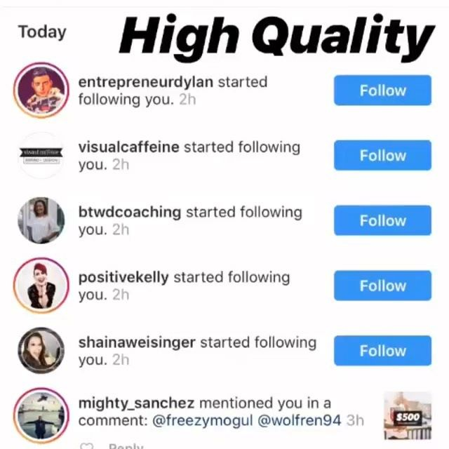 Looking for High Quality followers for your brand or business DM us now and get a FREE Evaluation.