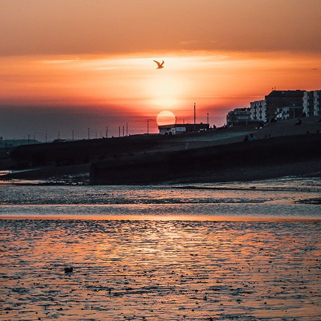 Still nothing better than sunset & low tide. Taken in Costa Del Hove.