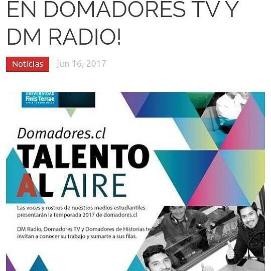 Ya están disponibles los adelantos de la nueva temporada 2017 de Domadores.cl! 👌 Link en la bio 🌐📽📺💻📰🗞 #periodismo #Chile #deportes #actualidad #cultura #radio #TV #domadores