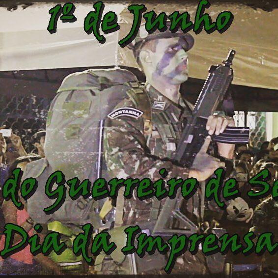 Ao Dia 1º de Junho minha mais sincera continência a todos Guerreiros de Selva formados pelo CIGS, pois vocês defendem e protegem nossa querida Amazônia mesmo com o risco da própria vida.  E estimados agradecimentos a todas RP's E7's/S7's das OM's que facilitam nossa divulgação e sempre nos ajudam a transmitir o melhor de nossa tropa no dia da Imprensa que também se comemora nesse dia. SELVA!!!
