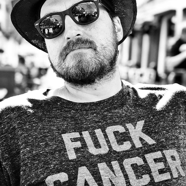 Today is 'Fuck Cancer' day. (Photo by @bosarismusic, shirt by @chadlanders himself!)