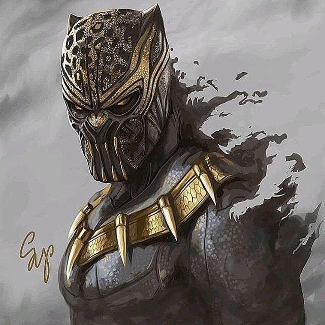 Black Panther by @samyangart  #artisttowatch #artoftheday #digitalart #marvelart #marvel #blackpanther #avengers #infinitywars #endgame #fantasticfour #guardiansofthegalaxy #geekart #geekcasket #torontogeek