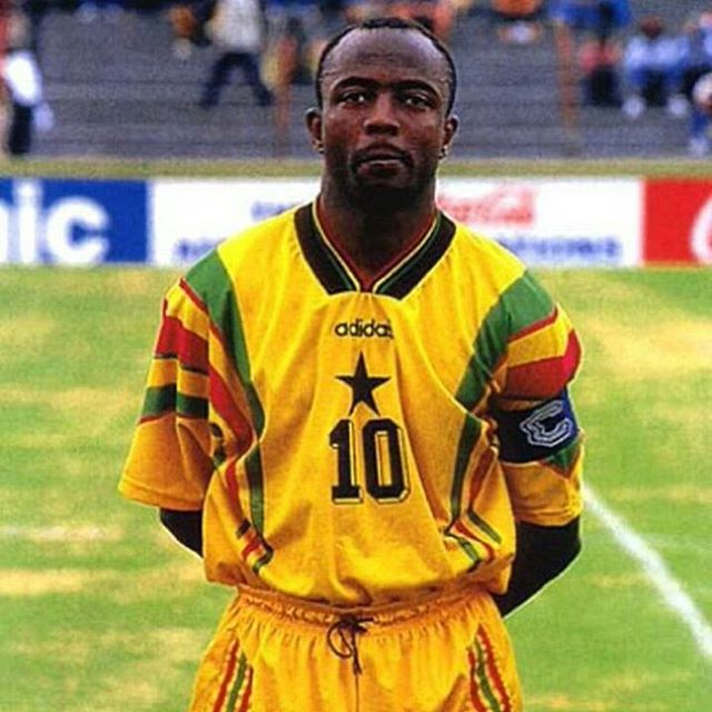 Happy birthday, Abedi Ayew Pelè who turns 51 today. The Ghanaian maestro was named African player of the year three times. He became a pioneer of African football in the early 90's during his time at French giants #Marseille. He's the father of current #Blackstars internationals Andre & Jordan Ayew.  #AbediPele #AfricaFootballShop #AndreAyew #JordanAyew #Ghana #Africa