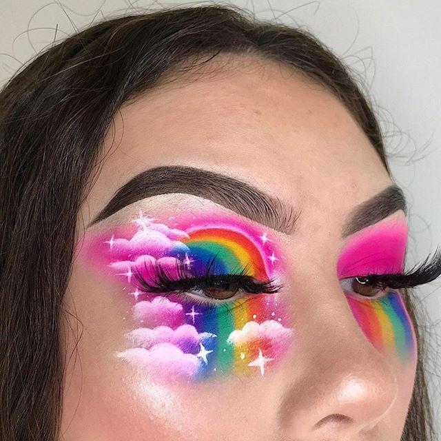 Love 🌈☁️🌈 @faggvibes . . . Follow & tag @slayandblend for a feature 💗 . . . . #makeuptutorialsx0x #allmodernmakeup #slayandblend #wakeupandmakeup #explorepage #anastasiabeverlyhills #fakeupfix #makeup #make4glam #glam #mua #motd #motd💄 #makeuplover #instamakeup #inspiration #makeupart #eyemakeup #lashes #eyeshadow #eyebrows #cutcrease #kyliecosmetics #morphe #jamescharlespalette #rainbowmakeup #pride