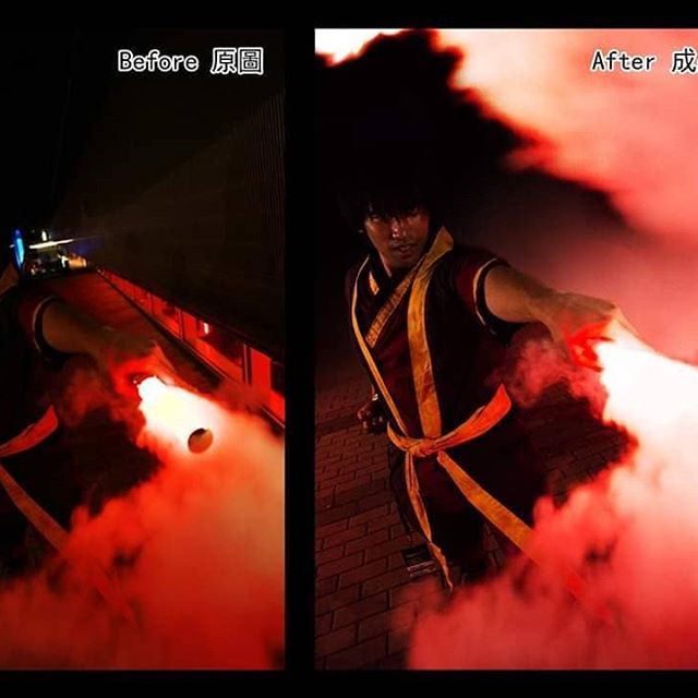 Photos took during Anime Revolution 2019.  在Anime Revolution 2019拍的場照。 . (中文下收) Be hold, the true behind the fire effect! The coser was holding a light stick and a pipe in his hand, while an othere person blow out smoke from an electronic cigarette on the other side of the pipe. It was my first time trying the smoke effect (cause I don't know anyone who smoke). We tried a few different angle to see which one look the coolest. Glad it turned out pretty good~ . 下面就是見證奇跡的時刻,火焰特效的真相!當時coser手裡拿著應援棒和一根鐵管,同時另一人從鐵管的另一頭往裡吹電子煙的煙。第1次嘗試煙霧效果(因為我都不認識抽煙的人)。我們試了幾個角度來看哪個比較酷。很高興最終效果還不錯~ . Avatar: The Last Airbender Zuko: @redjax_dast Photo&Edit: @alkun00 . . . #photography #cosplay #cosplayer #cosplayofinstagram #cosplayboy #cosplaystyle #cosplayphotography #cosplayphotoshoot #anime #avatar #thelastairbender #zuko #avatarthelastairbender #zukocosplay #animerevolution #smokeeffect #fireeffect #firebending #anirevo