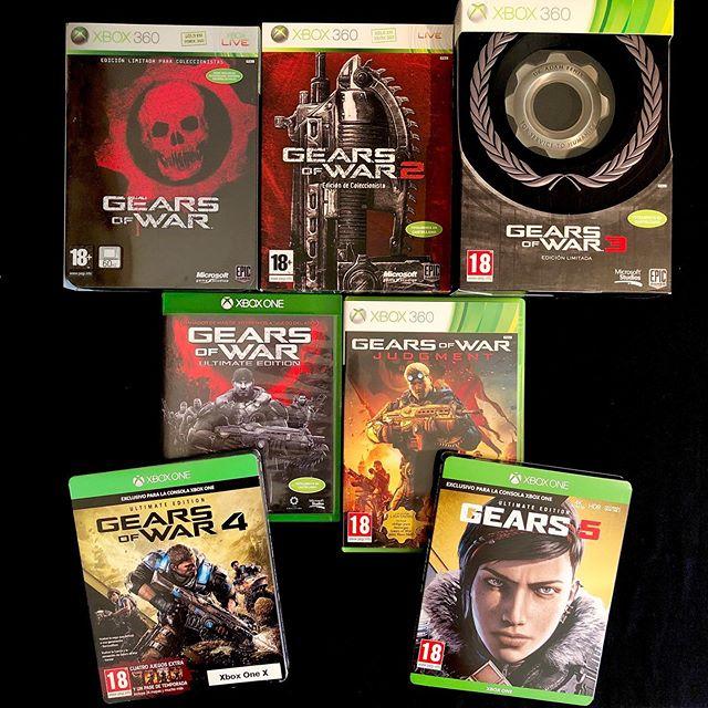 Gears of War Complete Saga ULTIMATE COLLECTION. #gearsofwar #gow #gears5 #steelbook #ultimateedition #ultimatecollection #limitededition #specialedition #xbox #xbox360 #xboxone #xboxonex