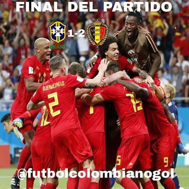 Brasil 1-2 Belgica Cuartos De Final