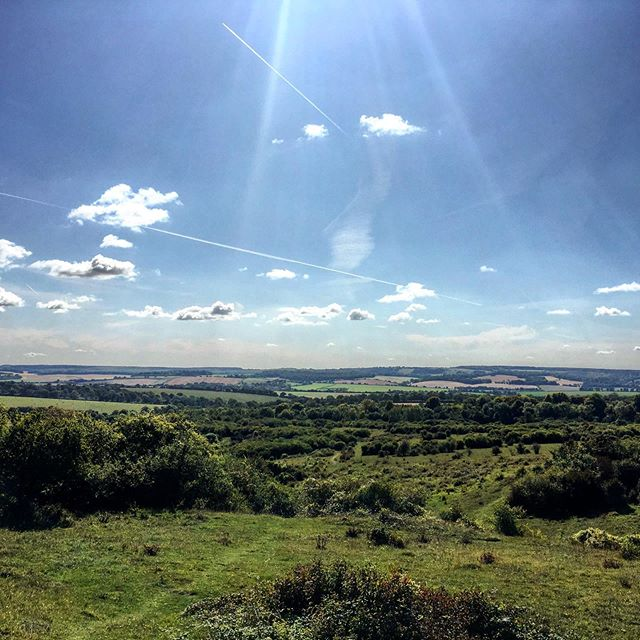 What an amazing afternoon for a picnic up on Woolbury ring.  No mountains but lovely views over the wonderful chalk downland of Hampshire. #adventure #hiking #hillwalking #walking #exploring #microadventure #greatdayout #stunningview #greatview #rollinghills #woolbury #stockbridgedown #bluesky #hampshire