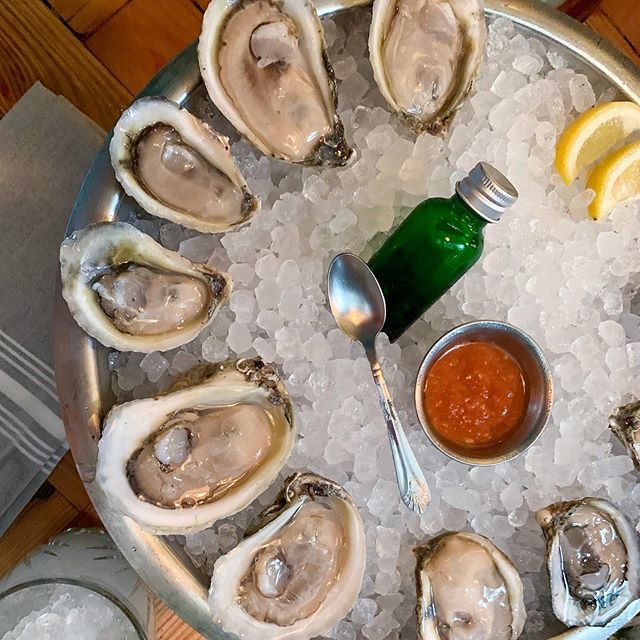 Celebrating oyster season and a new job on the @atlantabeltline with one of my favorite happy hours. @watchmansatl has dollar oysters and drink specials every weekday from 5-7 🍹What's your favorite post-work spot?
