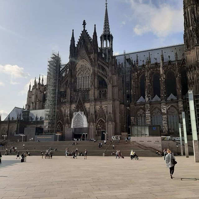 The beautiful cathedral in colonge called the Dom Cathedral.