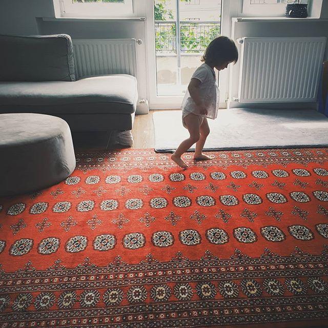 Preuređujemo boravak malo, prva stvar koju smo uzeli je novi tepih. Htjela sam što veći tepih tako da Sara može nesmetano trčati i padati 🤣. Volite li vi orijentalne tepihe? #bokhara #bokhararug #newrug #lifestyle #homedecor