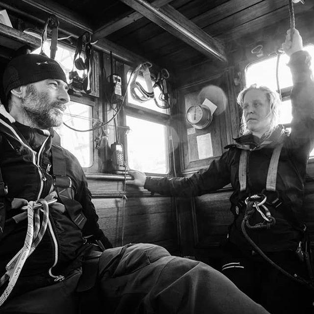 Crew time continues.  Duty in the wheelhouse ready for action. #barkeuropa #tallship #dutchtallships #fujifilmphotography #fujifilm #fujifilmx_au #fujifilmslovakia #acros #bwphotography #bw #documentaryphotography #crewlife #crew #blackandwhite #deckhand #deckhandlife #coffeetime☕ #wheelhouse