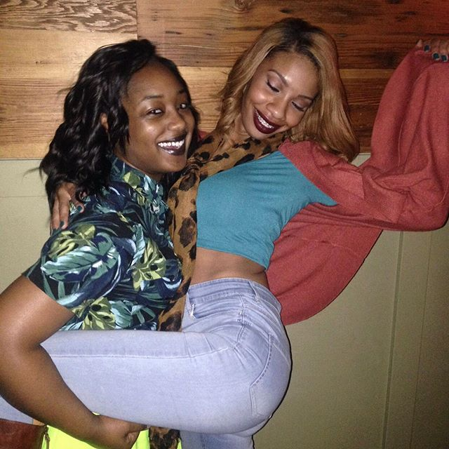 """Out of all the pics we got, I still feel like this 1st pic describes us the most! I turned 22 that day! I'm always to drunk to be responsible or even stand up straight! And you always right there having a good time but also making sure I don't stay on the grown too long after I fall! 😂😂Can you believe this pic was taken almost 5 years ago! Anyways I absolutely love everything about you! Your beauty! The way you carry yourself! Your confidence! Your heart! Even your funky ass """" I don't give a fuck """" attitude! You are MY RAEBAE! And thats never going to change! Enjoy your night / bday ! I love you! Oh and ig if your friends don't love your baby the way raven loves Madison, THATS NOT YOUR REAL FRIEND SIS! #imblessed #getyouaraebae #happybornday 💜😘 God blessed you when he sent me ! 😊"""