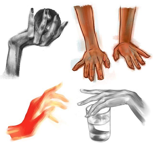 just some hand studies . . . . #art #artistsoninstagram #drawing #sketch #studies #study #digitalart #digitalpainting #painting #hands #lifedrawing #photoshop