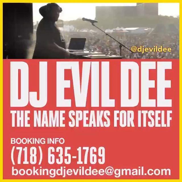 HIRE @DJEVILDEE TO DJ FOR YOUR EVENT !!! FOR BOOKING INFORMATION TEXT 718.635.1769 (also on WhatsApp) OR EMAIL BOOKINGDJEVILDEE@GMAIL.COM !!!! . . . #bookingagent #tour #clubpromoters #eventpromoters #bookingagents #producer #beatmaker #dj #djevildee #radio #blackmoon #bootcampclik #dabeatminerz  #beatminerzradio #hiphop #90shiphop #90sevents #randb #rnb #breakbeats #housemusic #disco #vinyl #turntables #serato #45 #thelunchtimemix #church #alwaysworking