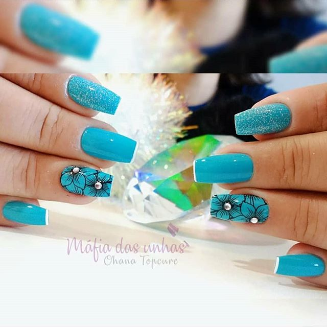 Meu mundo #blue💙  #nails_azul  #nailsbrillo  #unhas💅